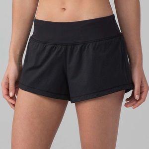 "Lululemon Final Lap Shorts Sz 8 Black 2.5"" Speed"